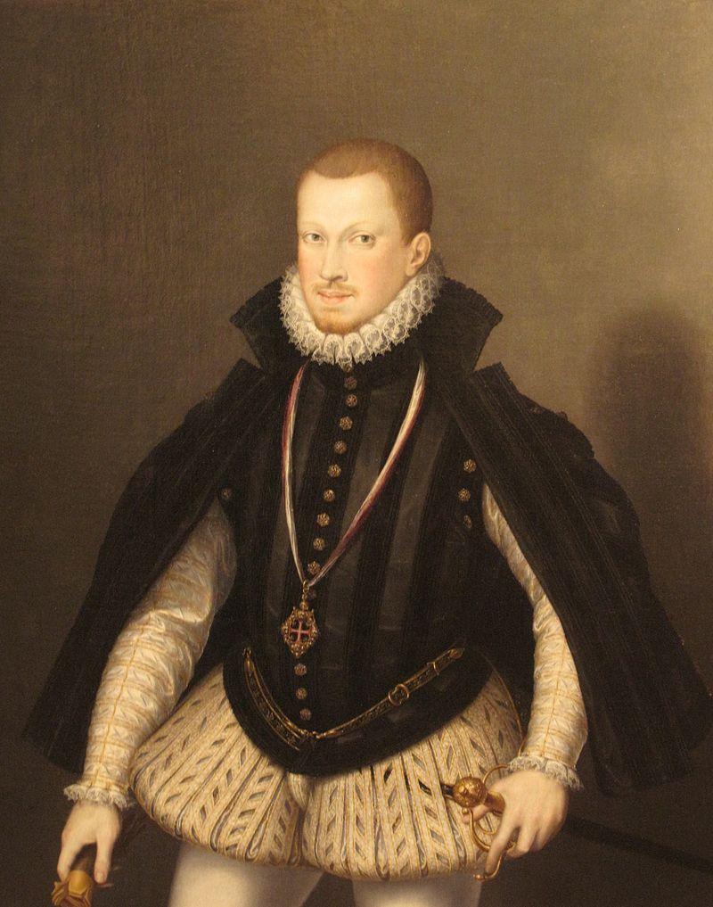 Портрет короля за авторством Алонсо Са́нчеса Коэ́льо. Был обнаружен в 2010 году