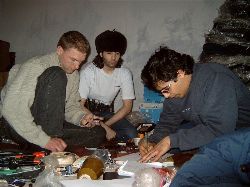 Павел Косолапов, Абу-Фарух и Абу-Дзейт. Северный Кавказ, конец 90-х годов.