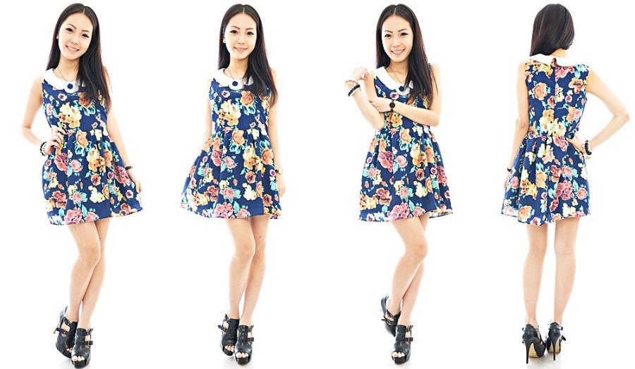Floral Portrait Dress