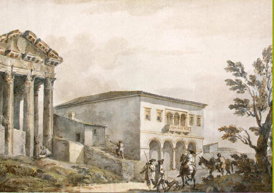 Clerisseau Charles-Louis - Temple of Augustus in Pola - OR-11671