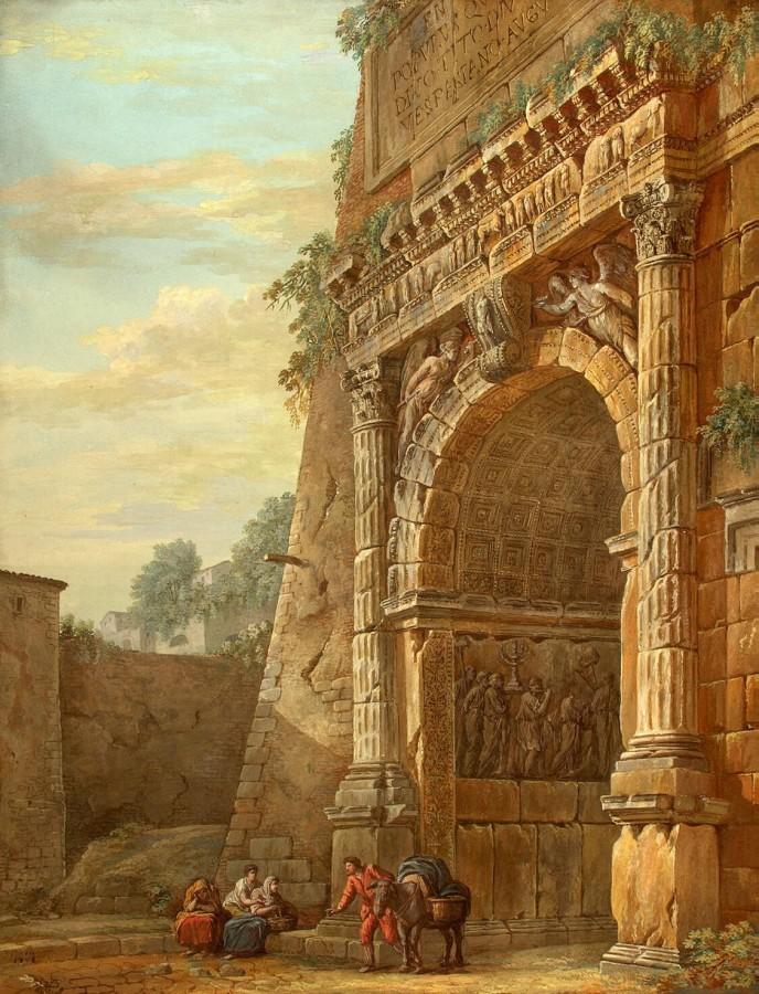 Clerisseau Charles-Louis - Triumphal Arch of Titus in Rome - OR-16925