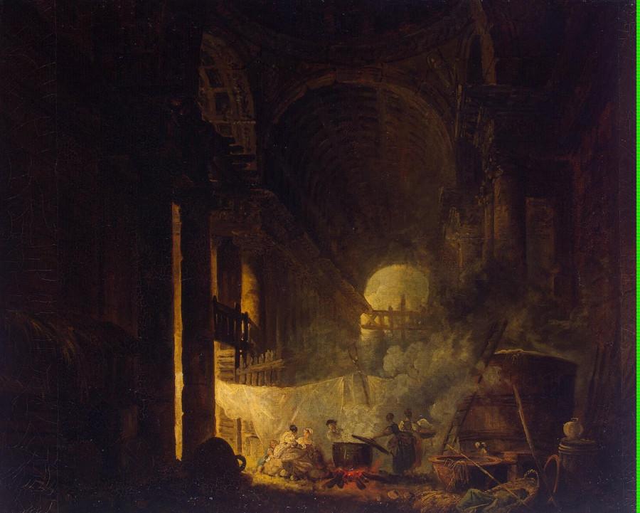 Robert Hubert - Laundresses in the Ruins - GJ-5806