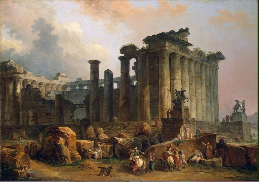 Robert Hubert - Ruins of a Doric Temple - GJ-1293