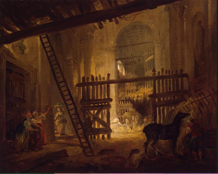 Robert Hubert - Stable in Ruins of the Villa Giulia - GJ-7662