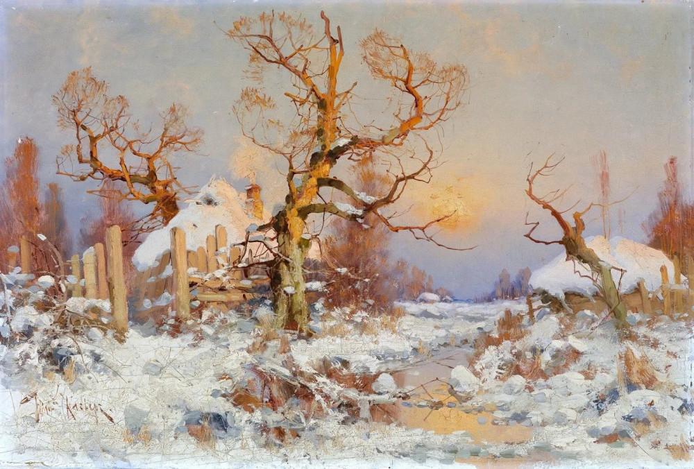 зимний пейзаж в лучах вечернего солнца.jpg