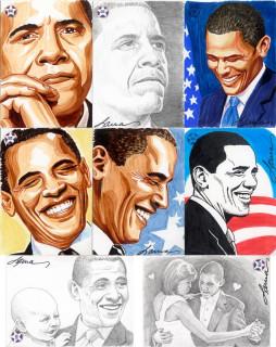 Obama sketch cards - IDW