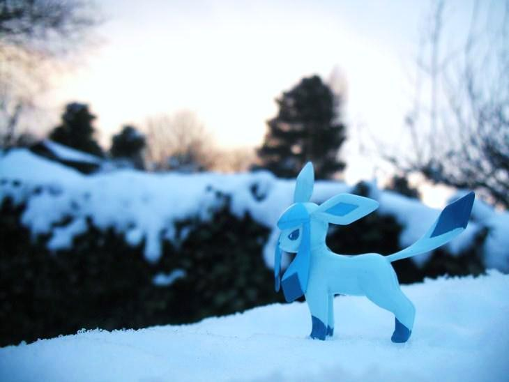 Glaceon snow