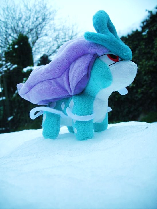 Suicune plush snow