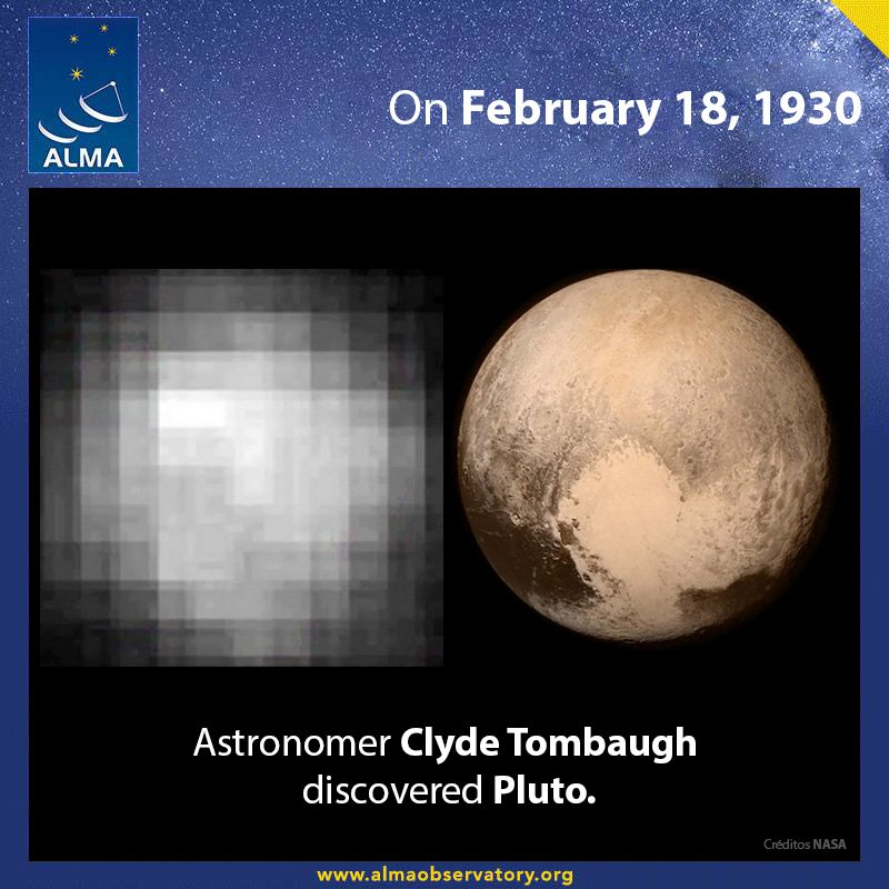 Pluto Discovery Image