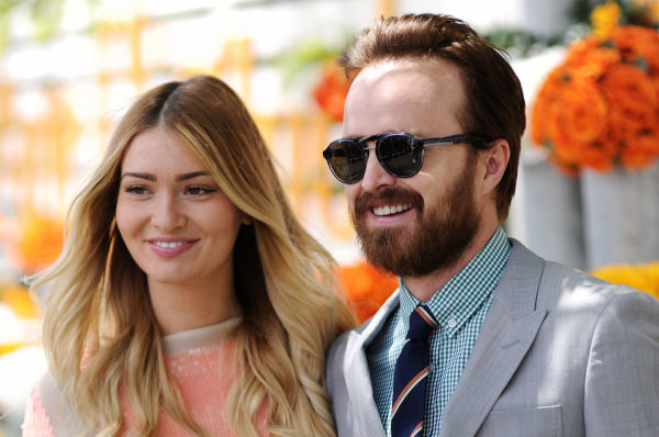 breaking-bad-star-aaron-paul-with-wife-lauren-parsekian-showed-off-his-new-beard