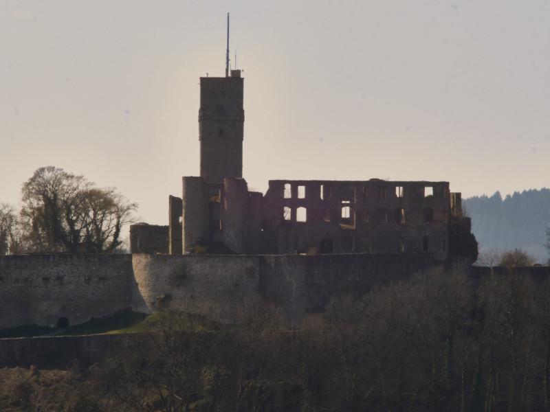Die Burg, herangezoomt