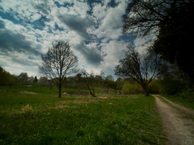 der Himmel war sehr schön - und doch war es sonnig und warm