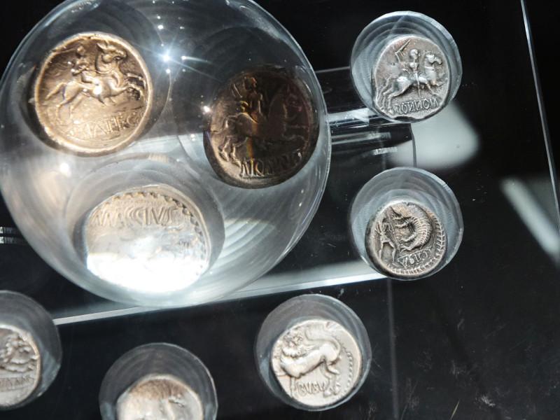 Münzen aus keltischer Zeit aus der Gegend von Bratislava