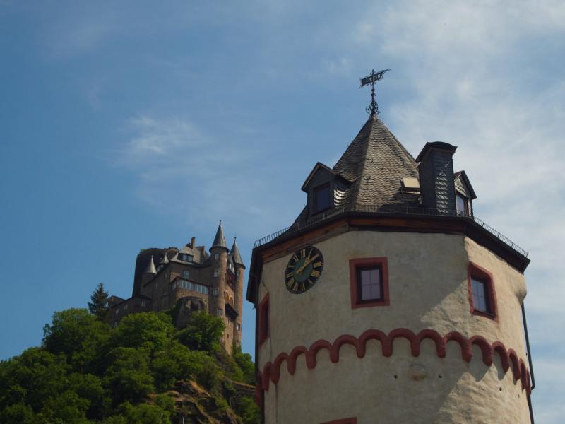 Blick auf die Burg Katz von St.Goarshausen