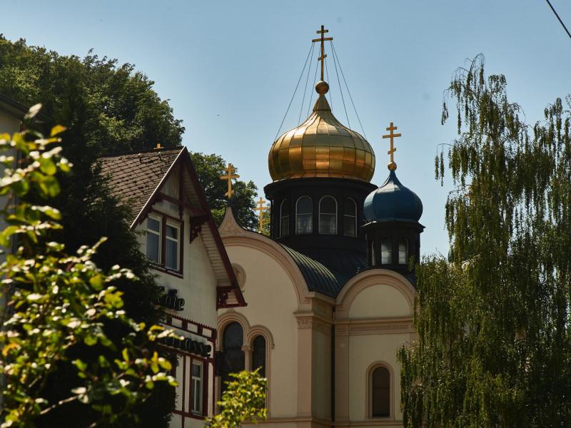 die russische Kapelle zeigt die guten Beziehungen, die man zu dem östlichen Nachbarn hatte