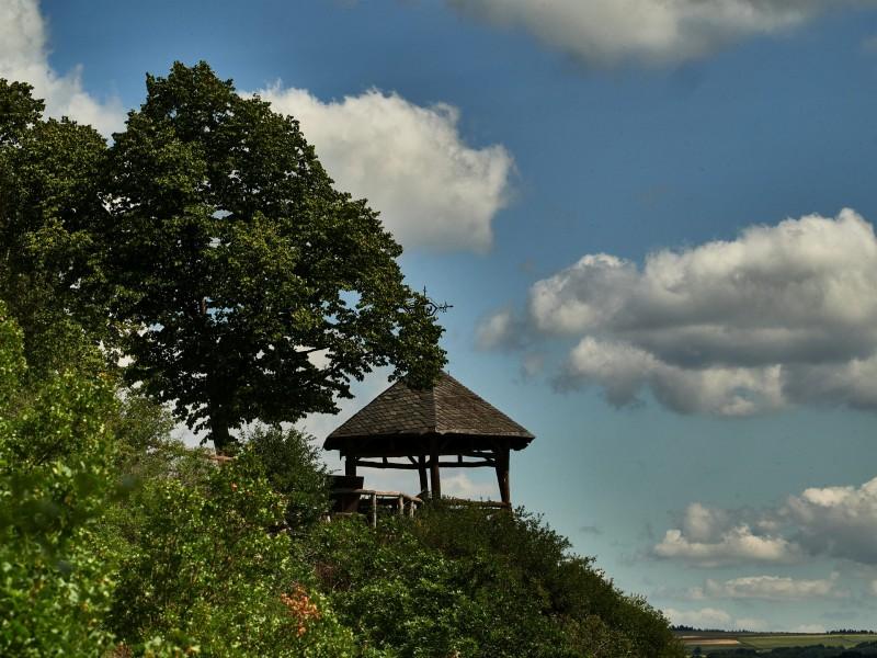 der Aussichtspunkt Dreiburgenblick