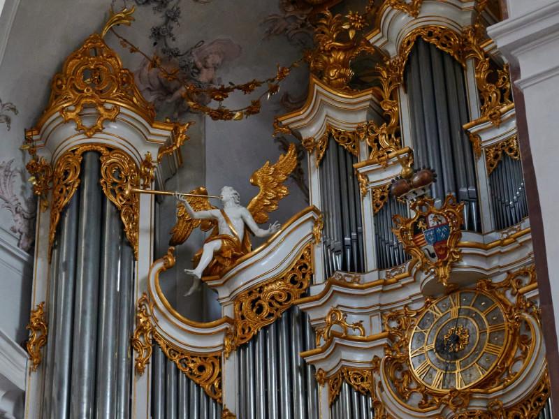 Detail der Orgel von Stumm 1782