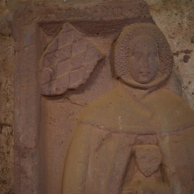 Anna von Bruck - das Wappen ist das derer von Erbach. Sie starb am 22.Mai 1370