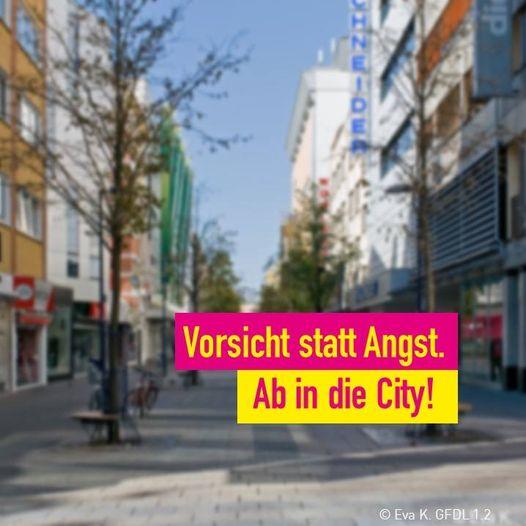 Was gar nicht geht - Werbung der FDP Offenbach. Deren Text dazu: Offenbach ist und war nicht Heinsberg!Die Negativwahrnehmung von Offenbach durch die gestiegenen Neuinfektionswerte hat zu einer deutlich entleerten Innenstadt geführt. Abstand zu halten und auf größere Privatparties zu verzichten bleiben immer noch das Gebot der Stunde, jedoch ist ein unreflektiertes Stay Home nicht notwendig.Es hat eine unbegründete Furcht gegeben, die Stadt zu betreten.  Die Infektionsketten sind klar verfolgbar und die Neuinfektionszahlen sind nun auch zurückgegangen. Wir fordern den Magistrat dazu auf, dem Zerrbild des Infektionsgeschehens mittels einer Öffentlichkeitskampagne entgegenzuwirken. Aufgabe der Politik ist es, zu Besonnenheit und Vorsicht aber auch zu rationalem Verhalten aufzurufen. Auf die Straße gehen und Abstand halten ist das Überlebenselixier für Gastro und Einzelhandel!