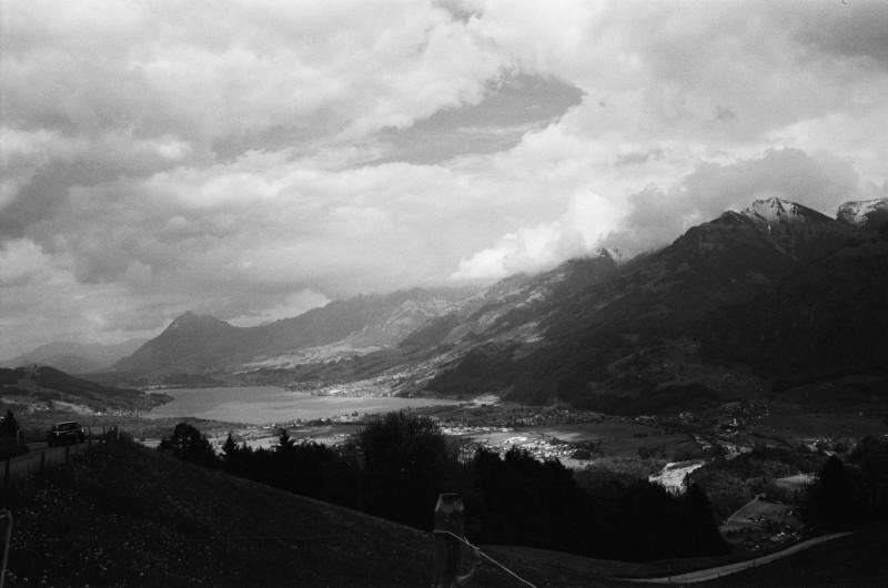 Sarner See von der Panoramastraße aus