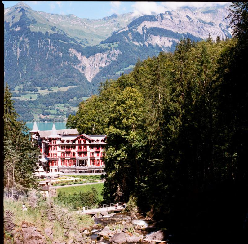 Das Grandhotel Giessbach — ein schöner Platz zum entspannen, wenn man die Wasserfälle umrundet hat
