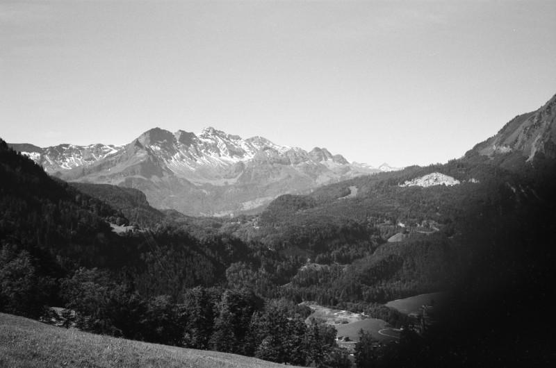 Die Wetterhorngruppe in den Berner Alpen