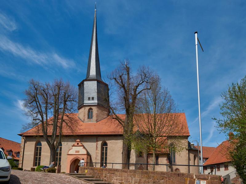 die am 20.September 812 geweihte evangelische Stadtkirche