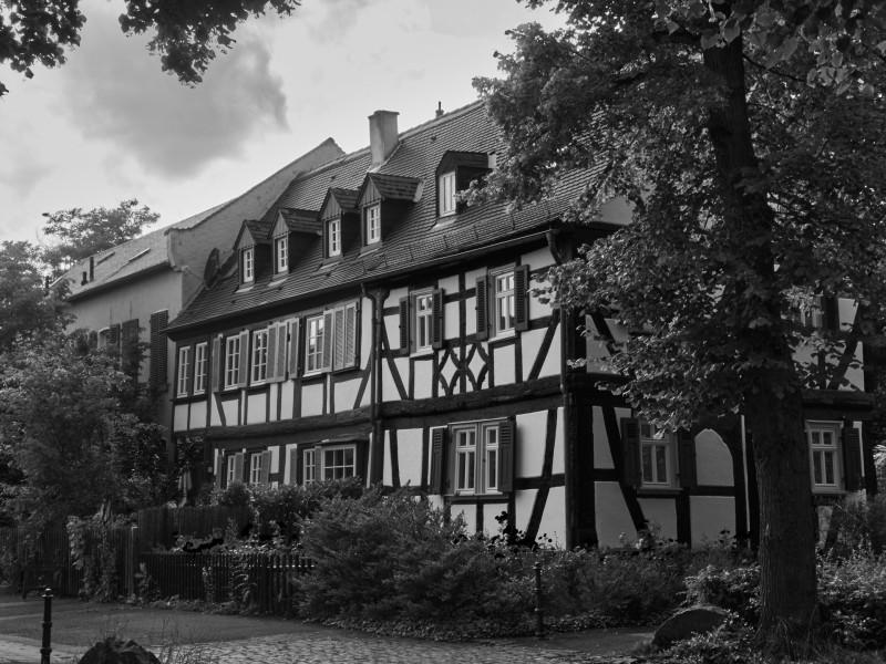 Eines der erhaltenen Burgmannenhäuser