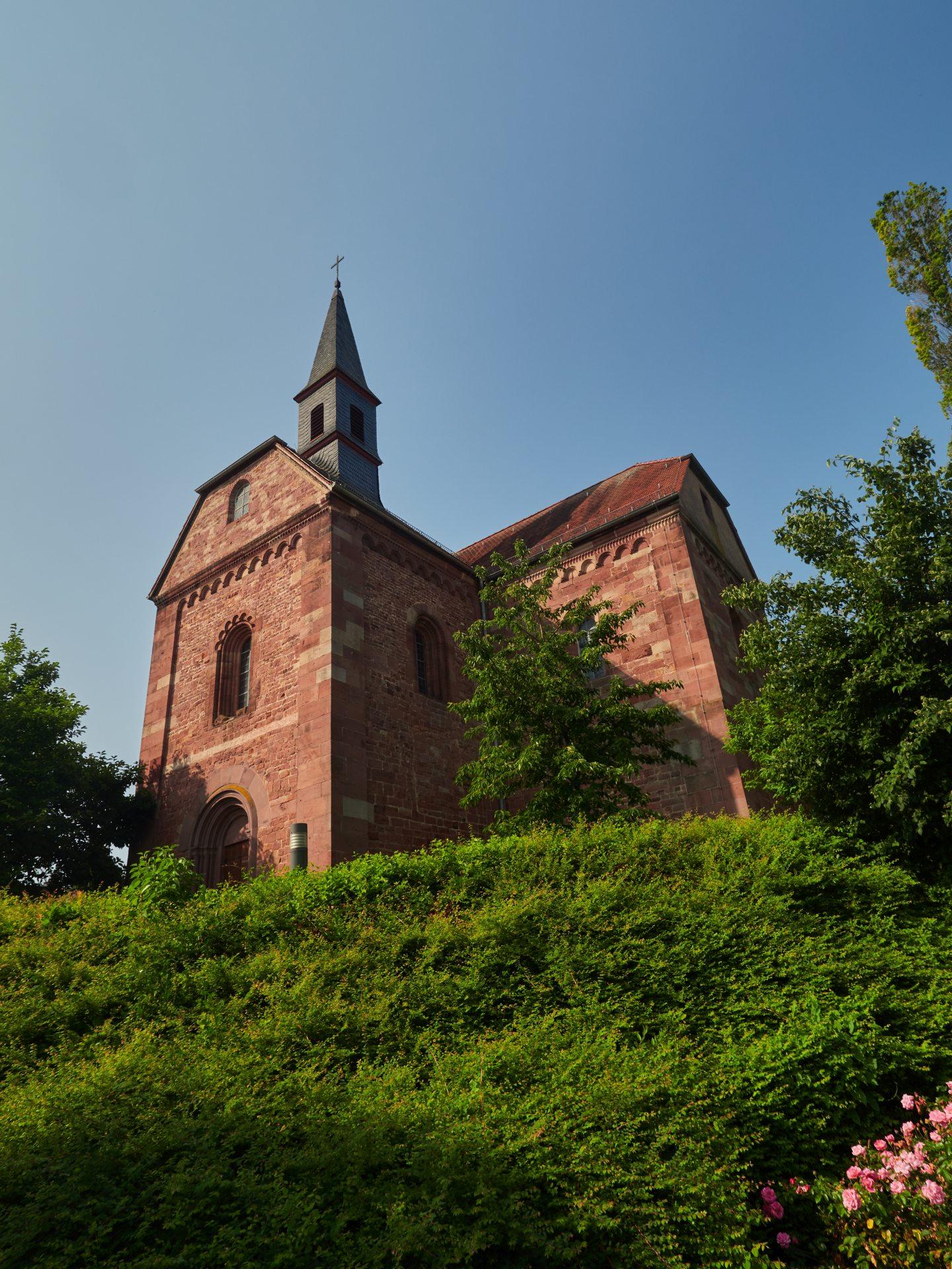 Klosterkirche Lobenfeld — ich war wohl zu früh, denn es war geschlossen