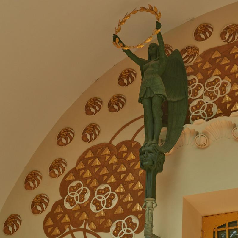 Detail des Ernst-Ludwig-Hauses, des gemeinschaftlichen Ateliergebäudes