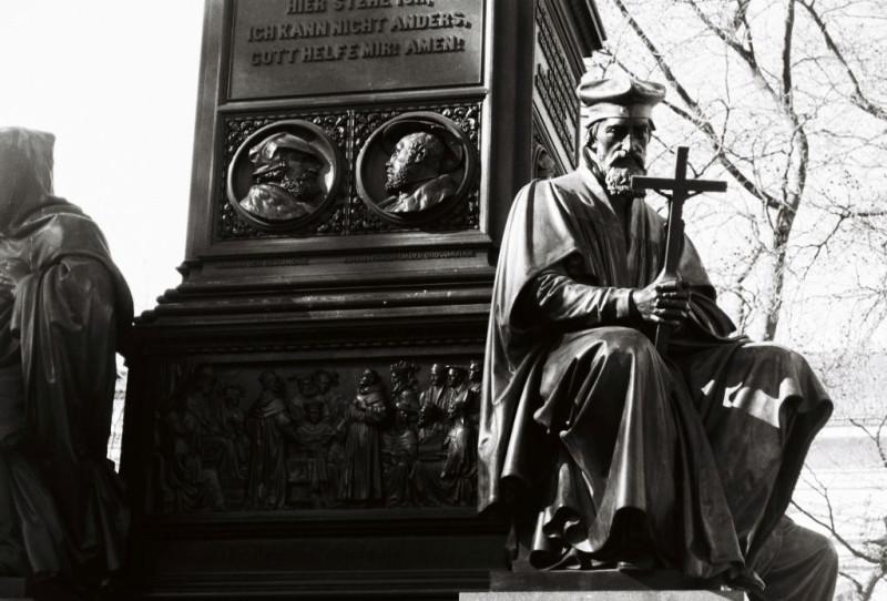 Jan Hus am Lutherdenkmal