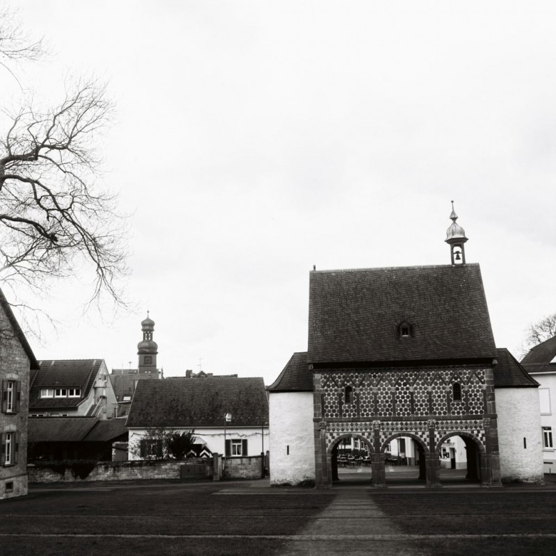 und noch einmal das Torhaus und das Städtchen im Hintergrund