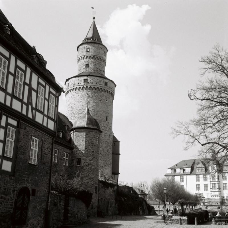 Nochmal Hexenturm, landgräfliches Schloß und altes Amtsgericht