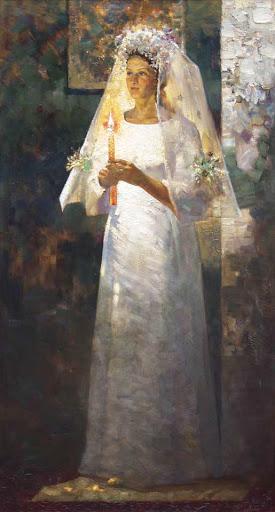 Невеста со свечой.Кузин Сергей.
