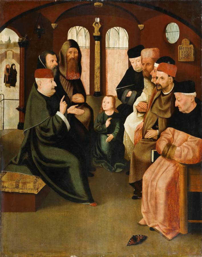 Босх. Иисус и фарисеи