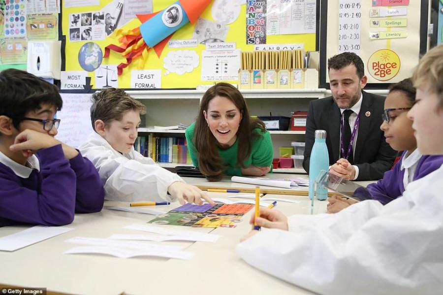 Визит герцогини Кембриджской в школы.