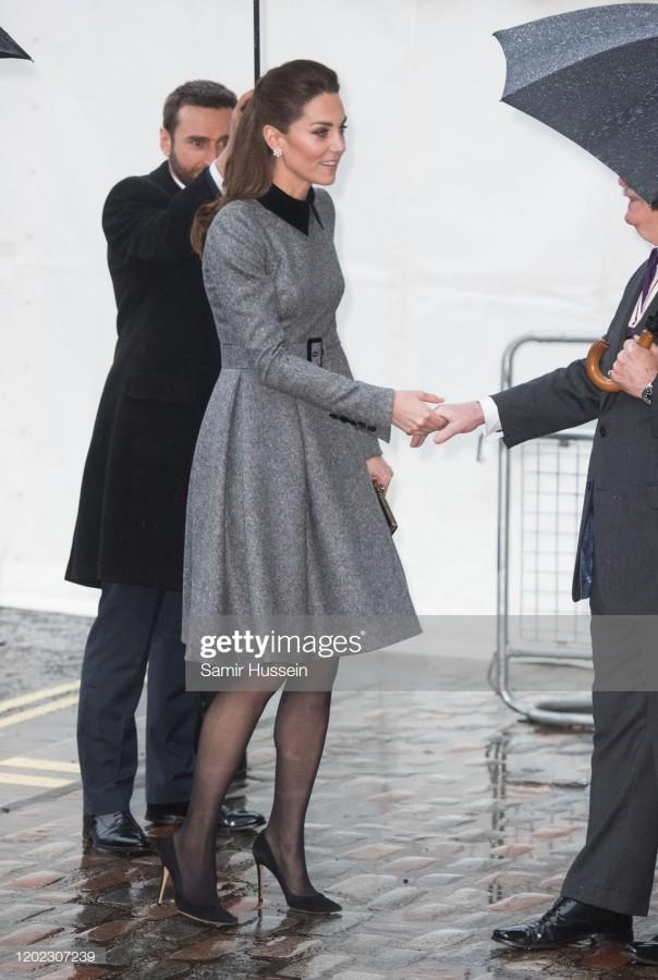 Принц Уильям и герцогиня Кэтрин на церемонии памяти жертвам Холокоста.