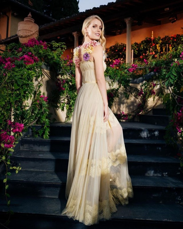 Леди Китти Спенсер на мероприятиях Dolce and Gabbana во Флоренции.