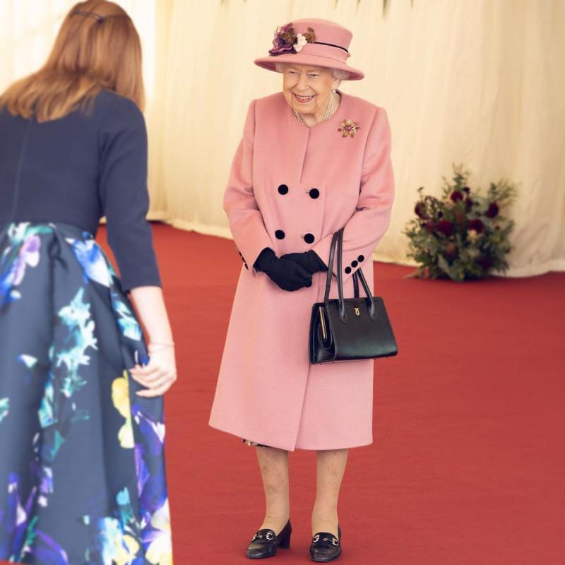 Елизавета Вторая и принц Уильям посещают лабораторию оборонной науки и