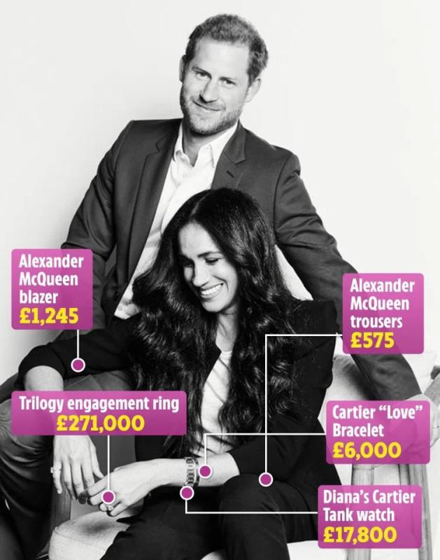 Как надеть примерно £300,000 на одну фотосессию.