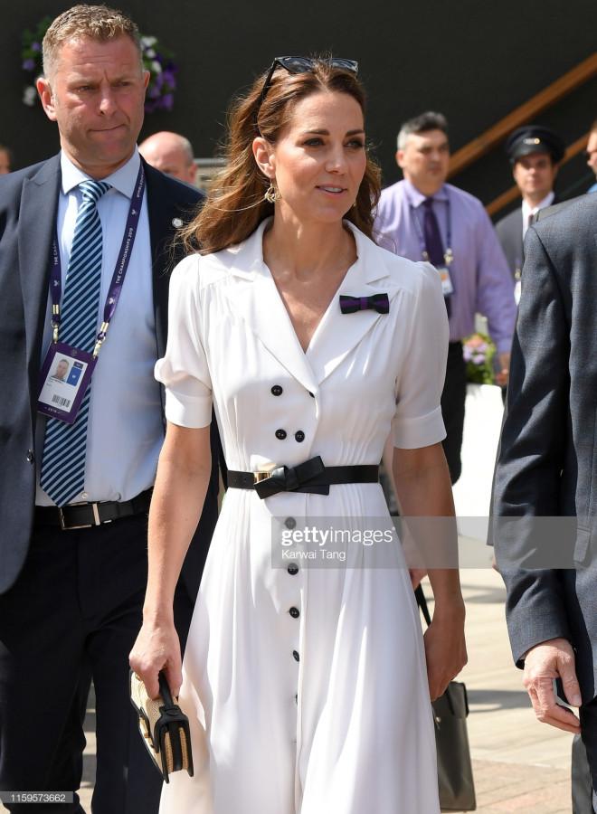 Герцогиня Кэтрин на Уимблдонском турнире 2019.