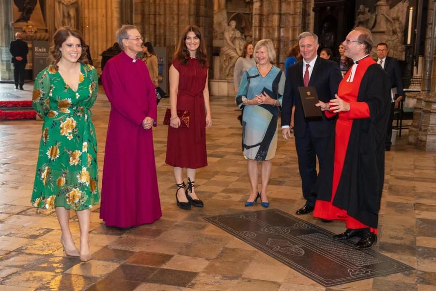 Принцесса Евгения посетила Вестминстерское аббатство.