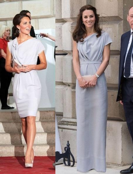 Герцогиня Кэмбриджская: длина нарядов.