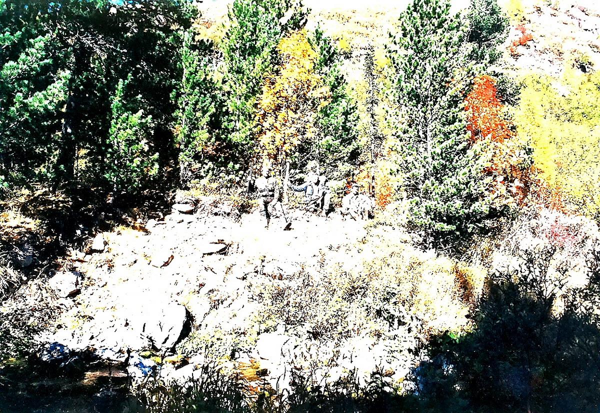 Мы с Табаткиным по дороге к озеру авг.2000 г.