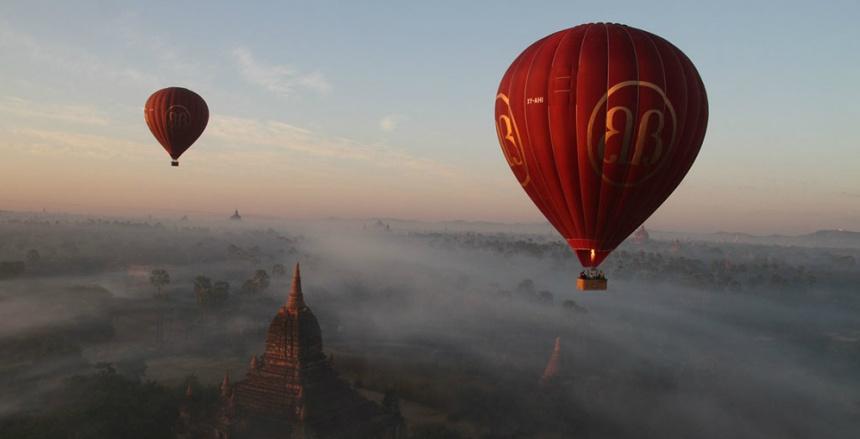 Шар над Мьянмой