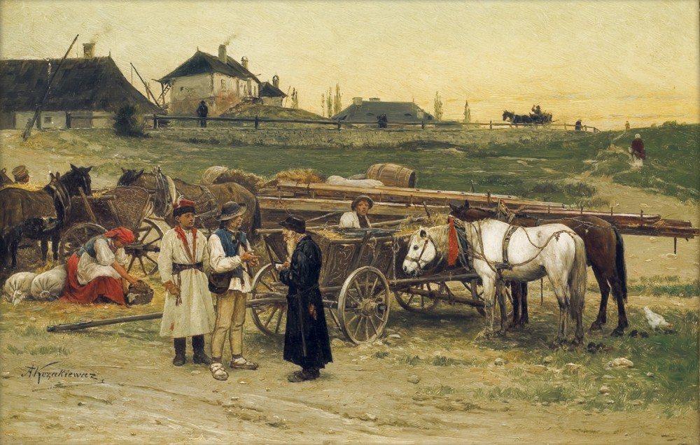 На рынке в галицком местечке