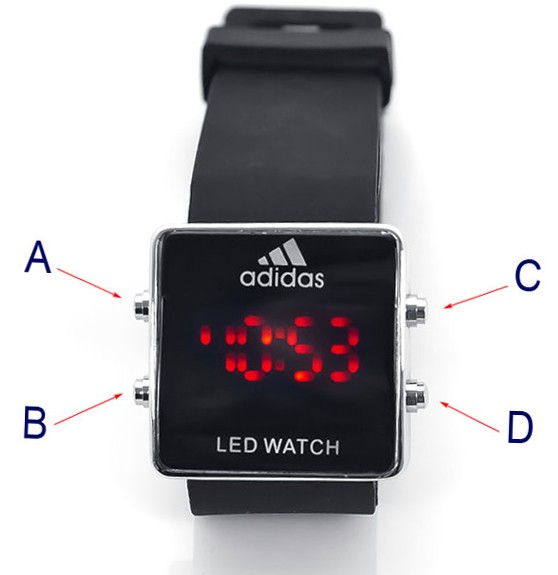 Инструкция часов adidas led watch