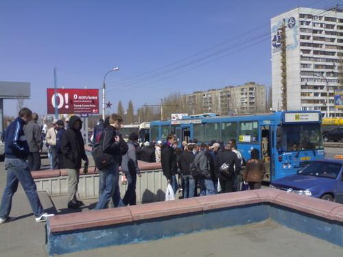 Погрузка в автобусы