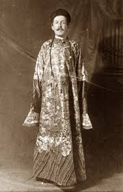 Reginald Farrer in oriental robes