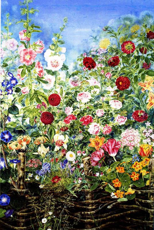 Цветы за тыном. 1935 г..jpg